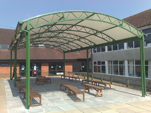 Clovis canopy for school 2 u201c & Clovis provides an education in canopies for schools - Crown Wood ...