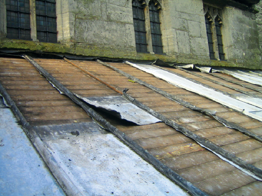 Theft of metal from church roof