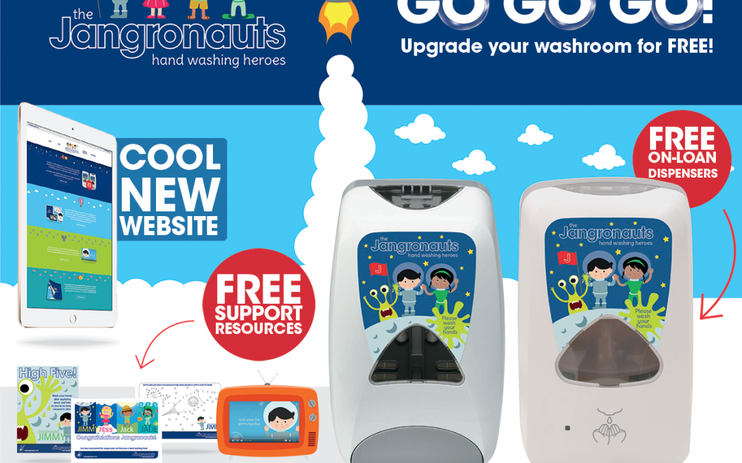 Jangro launches new Jangronauts website and introduces FREE ON-LOAN Soap Dispensers