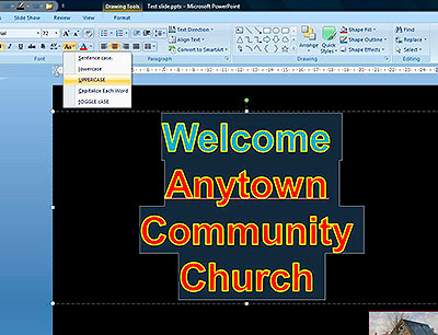 Example Powerpoint Screen