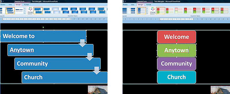 Example Powerpoint Screens
