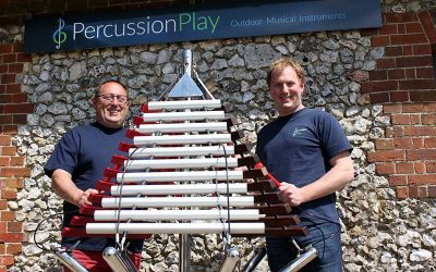 Outdoor musical instruments bring more than just music to a child's education